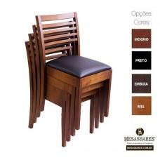 Cadeira  Empilhavel Bar Estofada ou Madeira Classe A - Cod: 2202