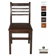 Cadeira Estofada ou Madeira para Lanchonete Cor Embuia - Cod: 5001