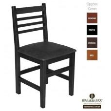 Cadeira Estofada ou Madeira para Lanchonete Cor Preta - Cod: 5001