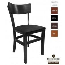 Cadeira Estofada ou Madeira para Bares Preta- Cod: 5003