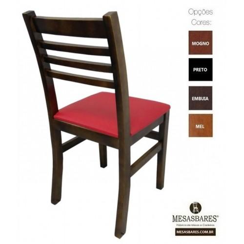 Cadeira Bar de Madeira Preta  - Cod: 5005