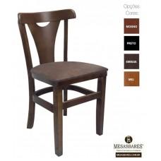 Cadeira de Madeira Estofada Fixa Embuia - Cod: 5010