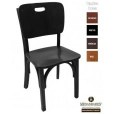 Cadeira de Madeira Boteco Bar Preta RJ- Cod: 1732