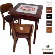 Conjunto de Mesa Azulejo e Cadeira Estofado ou Madeira Com ou Sem Logo Top - Cod: 1942