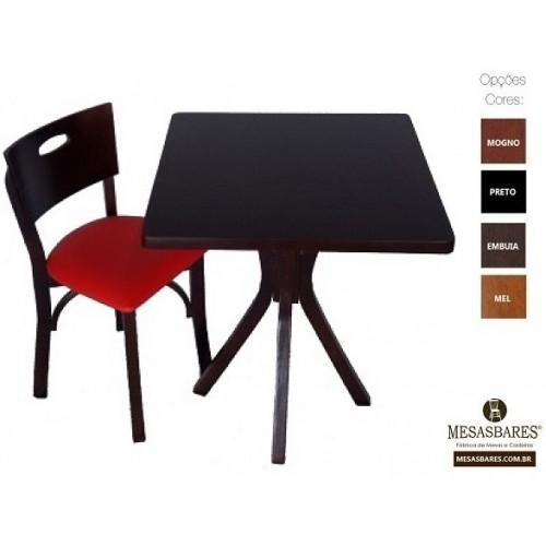 Conjunto de Mesa e 2 Cadeiras Especial para Bar e Restaurante - Cod: 1950