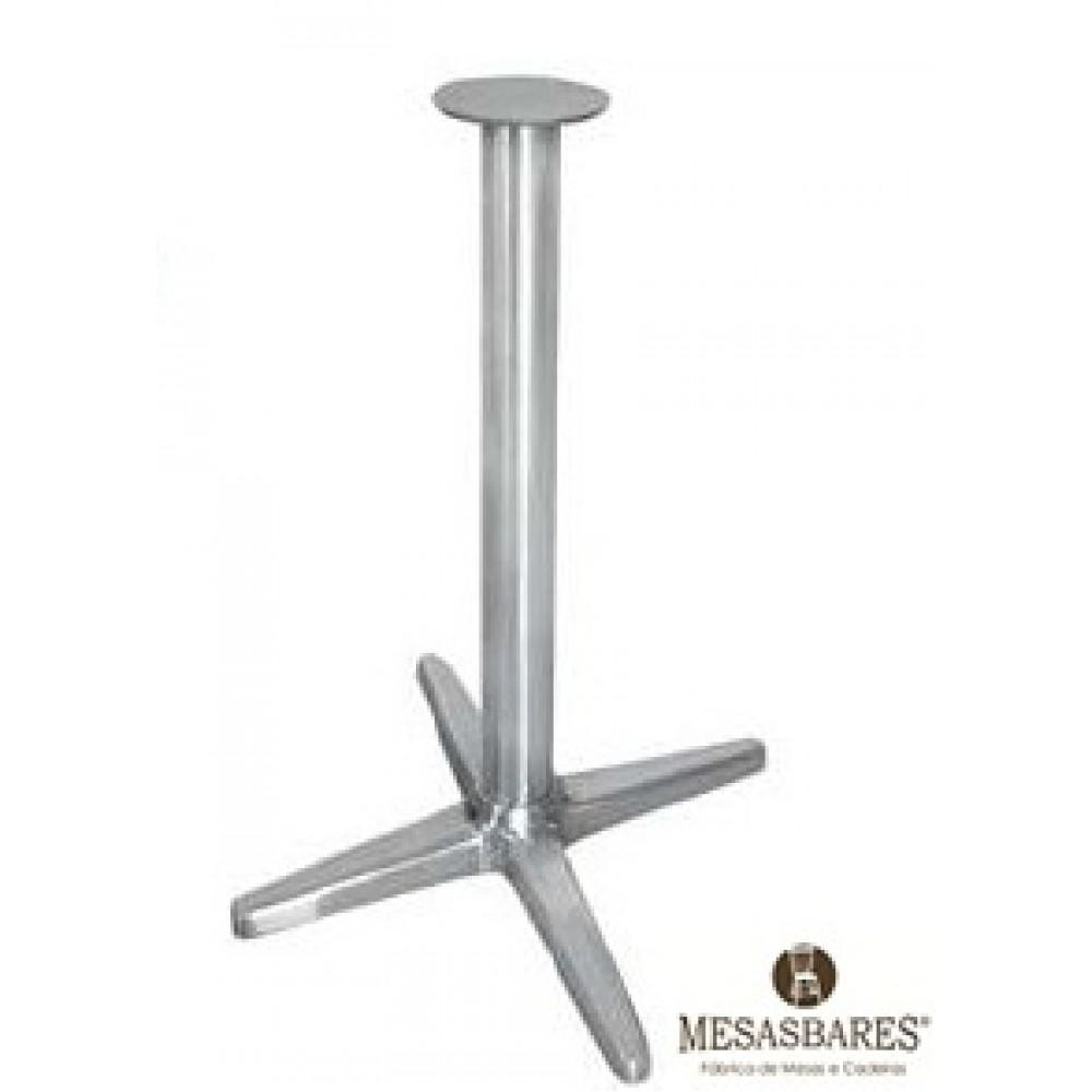 Base de mesa de alum nio 4 pontas cod 1649 mesasbares for Bases de mesas cromadas